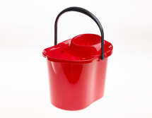 MOP BUCKET PLASTIC RED 12LTR