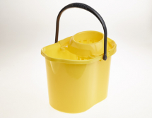 MOP BUCKET PLASTIC YELLOW 12LTR