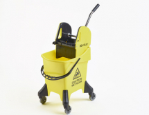 KENTUCKY MOP BUCKET & WRINGER ON CASTORS 31LTR YELLOW