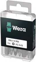 WERA PZ2 X 25 EXTRA TOUGH DIY 10 PACK