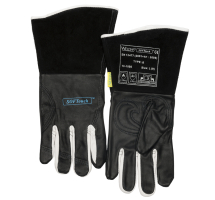 WELDAS SOFT TOUCH TIG GLOVES BLACK & WHITE GRAIN LEATHER L