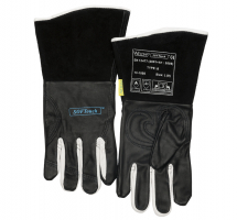 WELDAS SOFT TOUCH TIG GLOVE BLACK & WHITE GRAIN LEATHER M