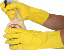GLOVES HOUSEHOLD RUBBER YELLOW (MARIGOLD) XL 13344