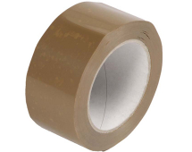 TAPE PACKING BROWN VINYL EXTRA STICKY 50MM X 66MTRS