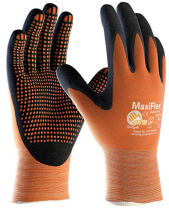 MAXIFLEX ENDURANCE GLOVES 4131 SIZE 10 XL PALM COATED ORA/BLK