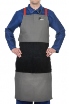 ARC KNIGHT WELDING BIB APRON FLAME RETARDENT /SPLIT LEATHER