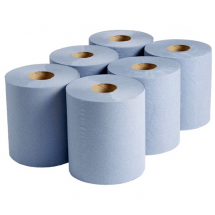BLUE CENTREFEED ROLLS 2 PLY 6PCK
