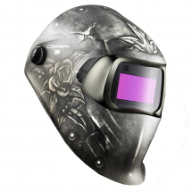 3M STEEL ROSE WELDING HELMET 100 SERIES WITH FILTER 100V
