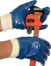 GLOVES A825P ARMANITE BLUE PAL M COATED HEAVY DUTY NITRILE SI