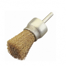 JAZ CRIMPED END BRUSH 19MM 0.30MM MILD STEEL 6MM SHANK