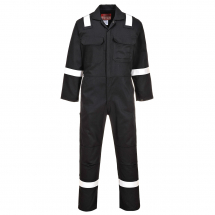 PORTWEST BIZWELD IONA FLAME RETARDANT COVERALL BLACK LARGE