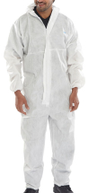 WHITE DISPOSABLE COVERALL MEDIUM