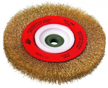 JAZ BRUSH WIRE WHEEL CRIMPED COATED MILD STEEL 150MM