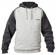 DEWALT CYCLONE GREY MARL HOODY LARGE