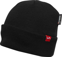40G THINSULATE LINED BEANIE HAT BLACK