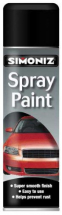 SPRAY PAINT SATIN MATT BLACK 500ML