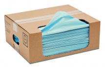 TUFWIPE FOLDED BLUE WIPE LOW LINTING 75GSM 150 PCK 300X450