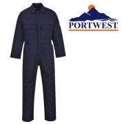 PORTWEST BIZWELD NAVY COVERALL FLAME RETARDANT L 42/44""
