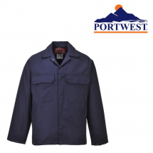 PORTWEST BIZWELD NAVY JACKET FLAME RETARDENT MEDIUM