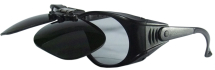 CLEAR SAFETY SPEC WITH FLIP UP SHADE 5 LENS