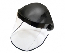 BLACK BROWGUARD COMPLETE POLYCARBONATE CLEAR VISOR