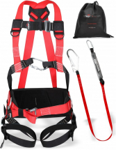 FALL KIT HARNESS & BELT 1.8MTR SHOCK LANYARD WITH SCAF HOOK