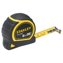 STANLEY MEASURING TAPE 8MTR BI-METAL CASING TB10*