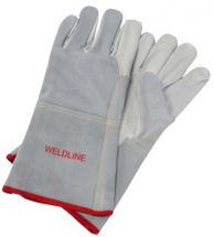 LINCOLN PAIR OF WELD GLOVES GRAIN LEATHER UNIVER