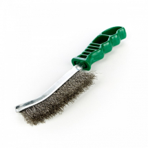 PLASTIC HANDLE STAINLESS STEEL WIRE BRUSH GREEN
